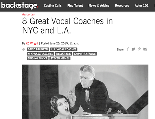 Backstage: 8 Great Vocal Coaches